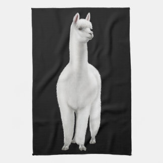 Alert White Alpaca Kitchen Towel