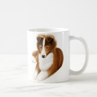 Alert Young Shetland Sheepdog Coffee Mug