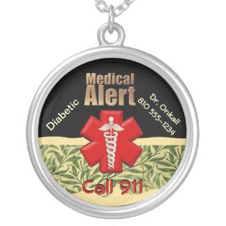 alerte médicale de ☤Custom Pendentif Rond