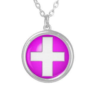 Alerte médicale - rose collier
