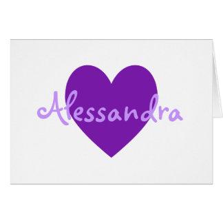 Alessandra in Purple Card