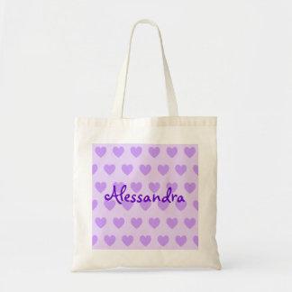 Alessandra in Purple Tote Bag