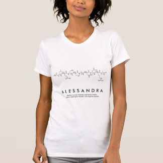 Alessandra peptide name shirt