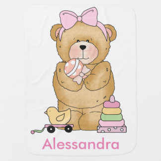 Alessandra's Teddy Bear Personalized Gifts Baby Blanket