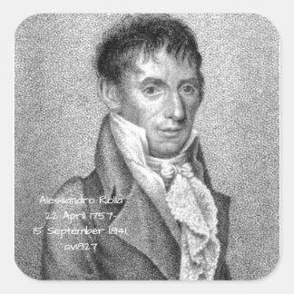 Alessandro Rolla before 1827 Square Sticker