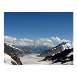 Aletsch Glacier at Jungfrau in Switzerland Postcard