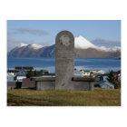 Aleut Relocation Memorial Statue, Unalaska Island Postcard