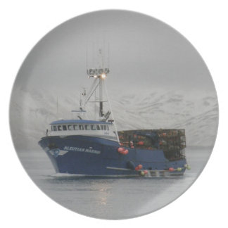 Aleutian Mariner, Crab Fishing Boat in Dutch Harbo Plate