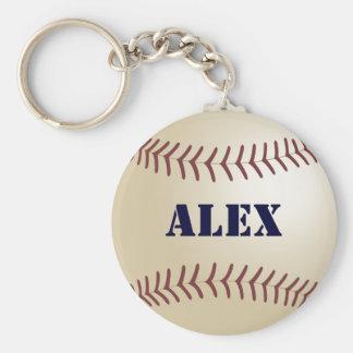 Alex Baseball Keychain by 369MyName
