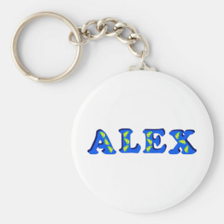 Alex Basic Round Button Keychain