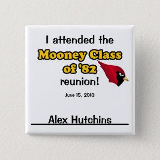 Alex Hutchins 2 Inch Square Button