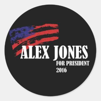 Alex Jones for President 2016 Round Sticker