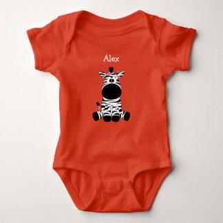 Alex, Personalized Cute Baby Zebra Baby One Piece Baby Bodysuit