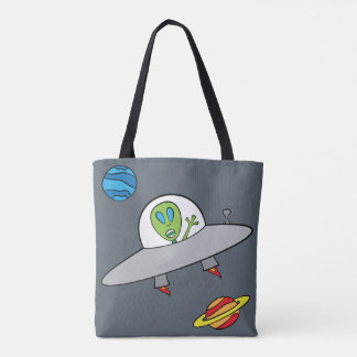 Alex the Alien - All-Over-Print Tote Slate