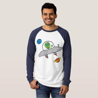 Alex the Alien - Men's Long Sleeve Raglan T-Shirt