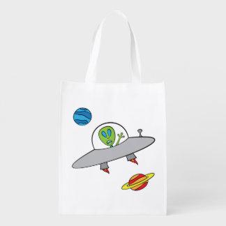 Alex the Alien - Reusable Bag Reusable Grocery Bags