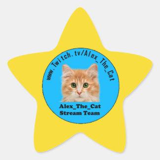 Alex_The_Cat Gold Star Star Sticker