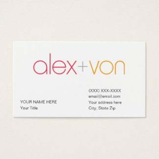 alex von Business Card Template (w/ address)