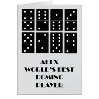 Alex World's Best Domino Player Card
