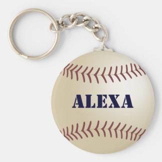 Alexa Baseball Keychain