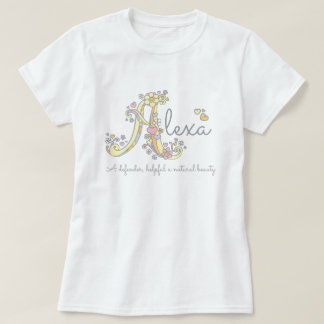 Alexa girls name meaning monogram ladies t T-Shirt