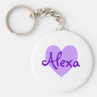 Alexa in Purple Keychain