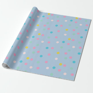 Alexa Pastel Polka-Dot Print Wrapping Paper
