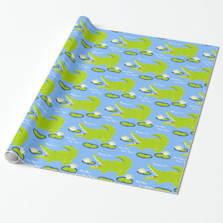 Alexander Alligator Blue Wrapping Paperor Wrapping Paper
