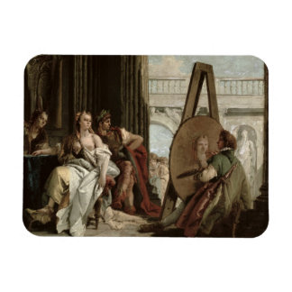Alexander and Campaspe at the house of the painter Rectangular Photo Magnet