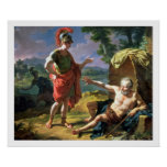 Alexander and Diogenes, 1818 (oil on canvas) Print
