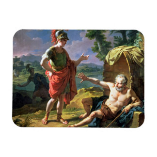 Alexander and Diogenes, 1818 (oil on canvas) Rectangular Photo Magnet