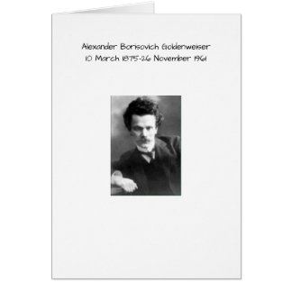 Alexander Borisovich Goldenweiser Card