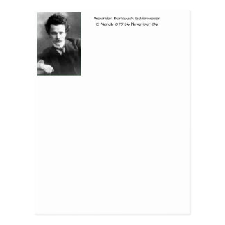 Alexander Borisovich Goldenweiser Postcard