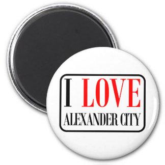 Alexander City, Alabama Design 2 Inch Round Magnet