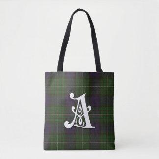 Alexander Clan Tartan Monogram Tote Bag