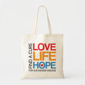 Alexander disease awareness tote bag - find a cure