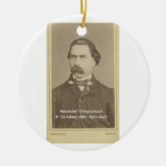 Alexander Dreyschock Ceramic Ornament