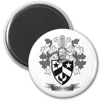 Alexander Family Crest Coat of Arms 2 Inch Round Magnet