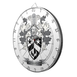 Alexander Family Crest Coat of Arms Dart Boards