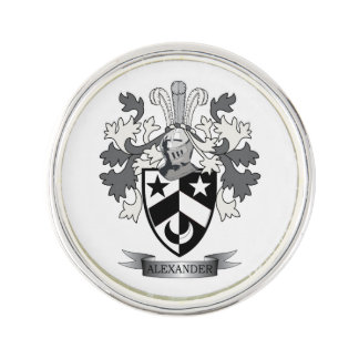 Alexander Family Crest Coat of Arms Lapel Pin