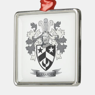 Alexander Family Crest Coat of Arms Metal Ornament