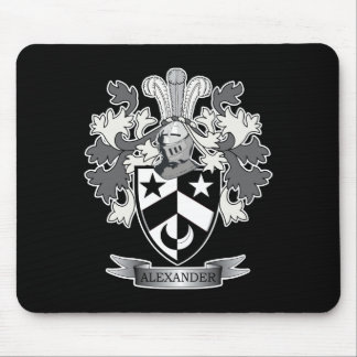Alexander Family Crest Coat of Arms Mouse Pad