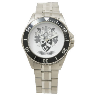 Alexander Family Crest Coat of Arms Watch