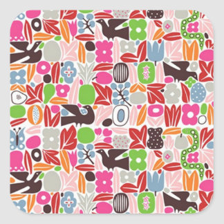 alexander-girard-eden-gift-wrapping-paper square sticker