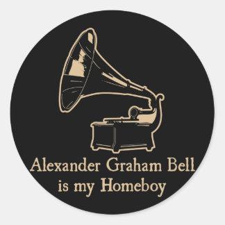 Alexander Graham Bell est mon Homeboy Adhésif Rond