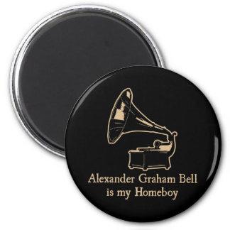 Alexander Graham Bell est mon Homeboy Aimant Pour Réfrigérateur