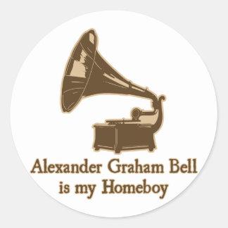 Alexander Graham Bell est mon Homeboy Autocollants