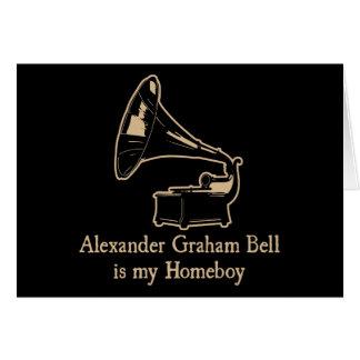 Alexander Graham Bell est mon Homeboy Cartes De Vœux
