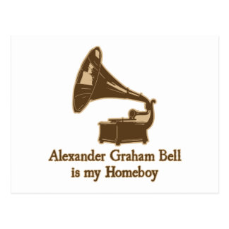 Alexander Graham Bell est mon Homeboy Carte Postale