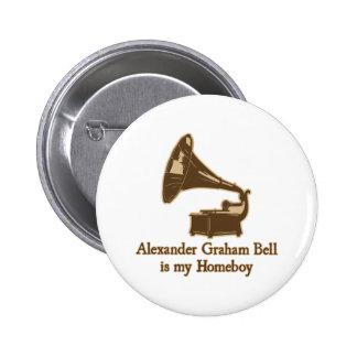 Alexander Graham Bell est mon Homeboy Macaron Rond 5 Cm